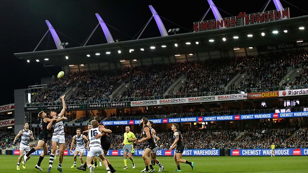 Turns Out Geelong Exaggerated The New Capacity Of Simonds Stadium