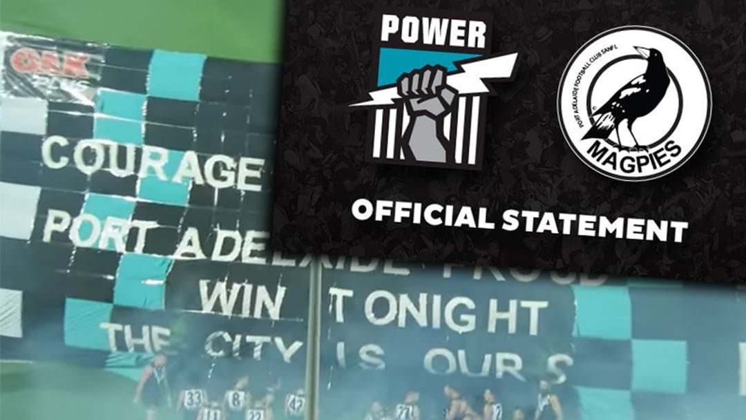 Port Adelaide Releases Official Statement Regarding 'Banner Incident'