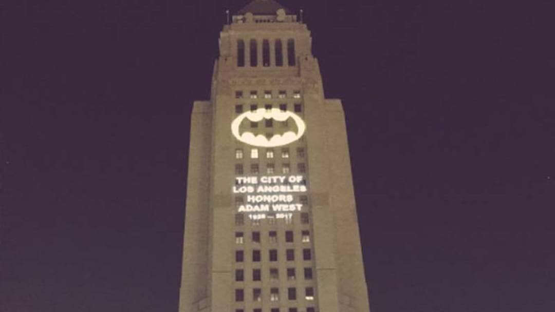 Thousands Gather As Bat-Signal Tribute To Adam West Lights Up L.A.