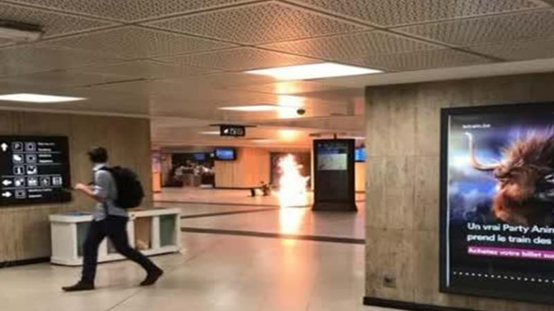 Explosion at Brussels train station, suspect shot