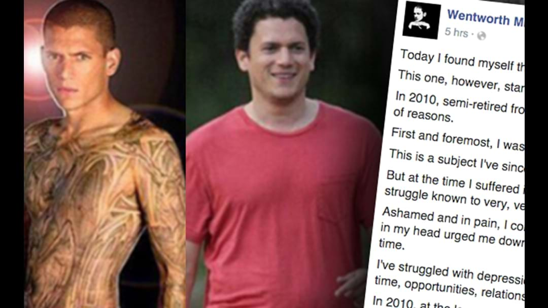 Prison Break Star Wentworth Miller's Moving Facebook Post Following Fat-Shamiing Meme