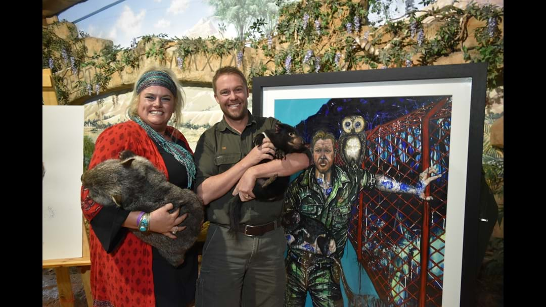 Portrait of Reptile Park co-director unveiled
