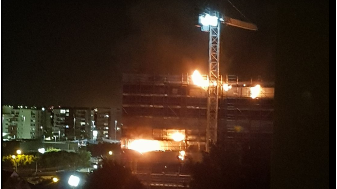 Fire Rips Through Under-Construction Apartment In Chermside