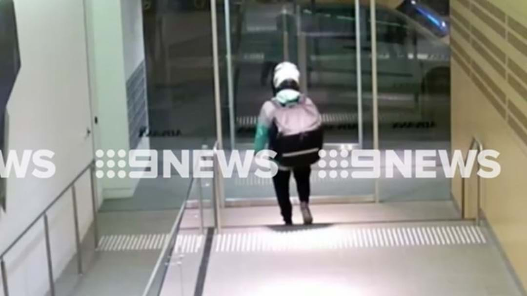 Sydney Deliveroo Driver Caught On CCTV When He Thought No One Was Watching