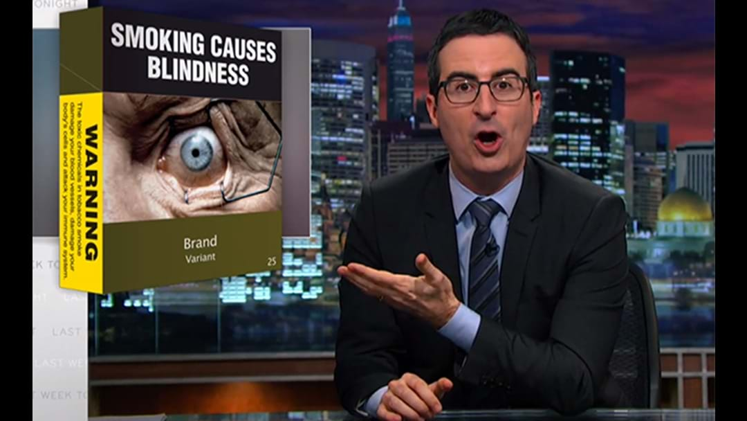 Australia The Focus Of John Oliver's EPIC TAKEDOWN Of The Tobacco Industry
