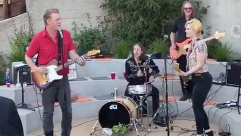 Article heading image for Queens Of The Stone Age Frontman Josh Homme Rocks Out At A Graduation Party