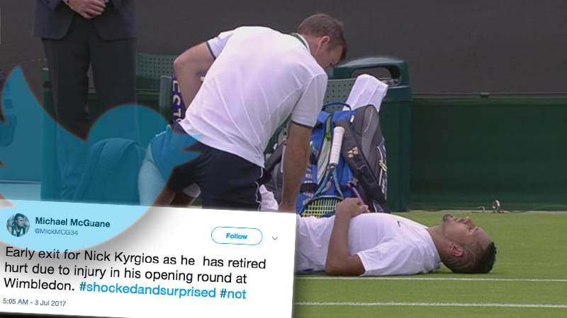 Twitter Reacts To Nick Kyrgios&#39 Wimbledon Retirement