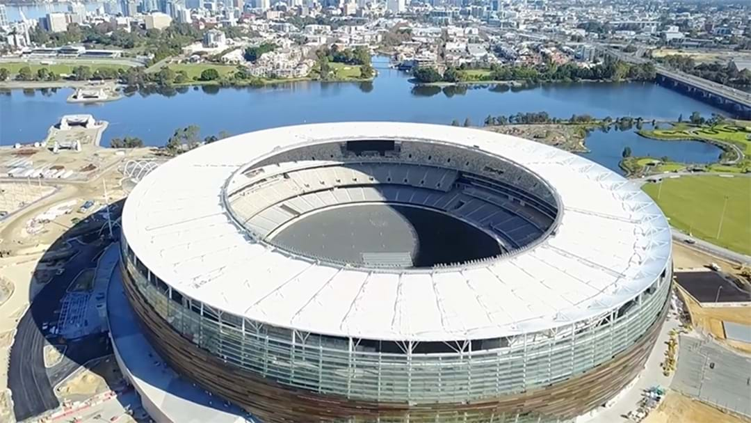 Drone Footage Emerges Of The New Perth Stadium
