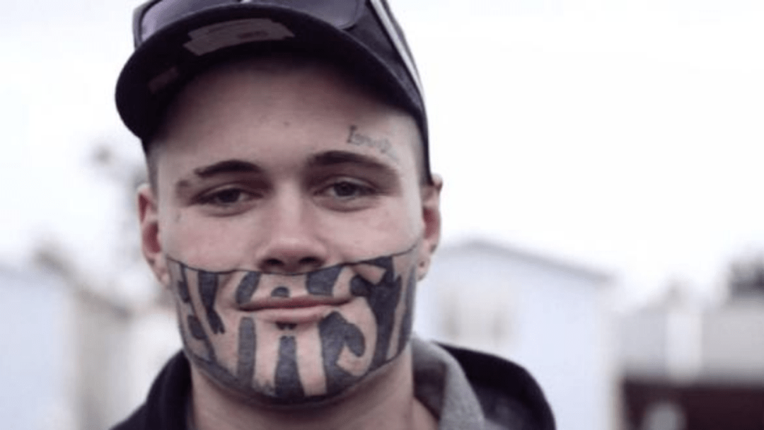 Bloke With Jail Yard Facial Tatt Turns Down 45 Jobs While Waiting 'For The Right One'