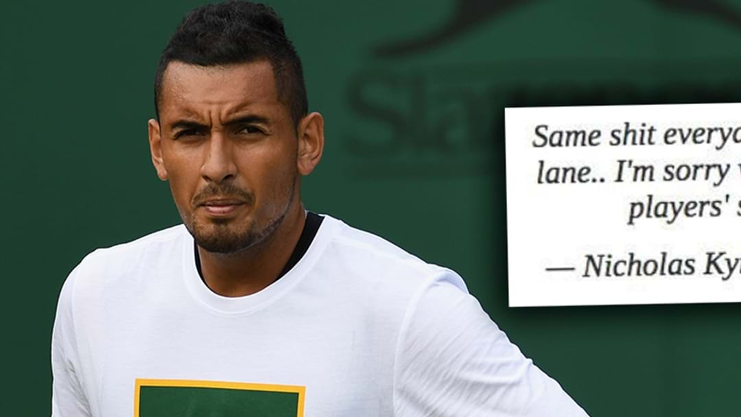Nick Kyrgios Deletes Tweet Hitting Back At Aussie Tennis Legend