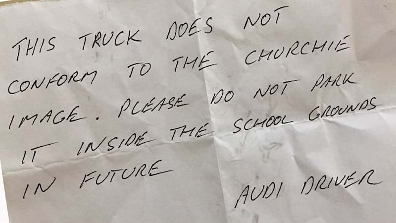 Article heading image for Old Ute Not Good Enough for Audi Driver at Brisbane Private School