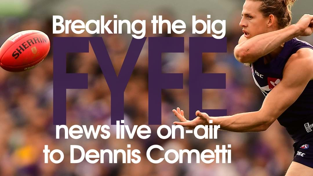 Fyfe's Big News Left Dennis Cometti Speechless