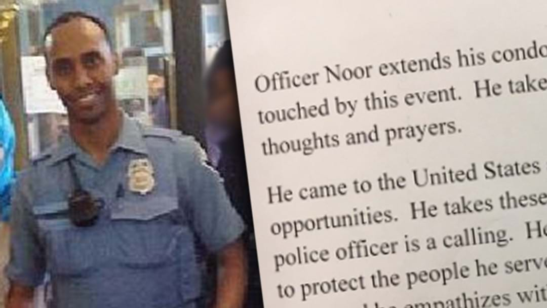 US Police Officer Who Killed Australian Woman Releases Statement