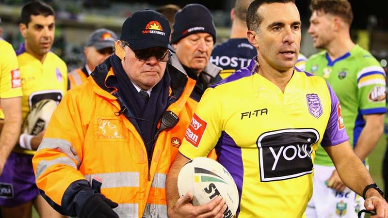 Brutal Billy Slater injury mars Melbourne Storms' win over Canberra Raiders