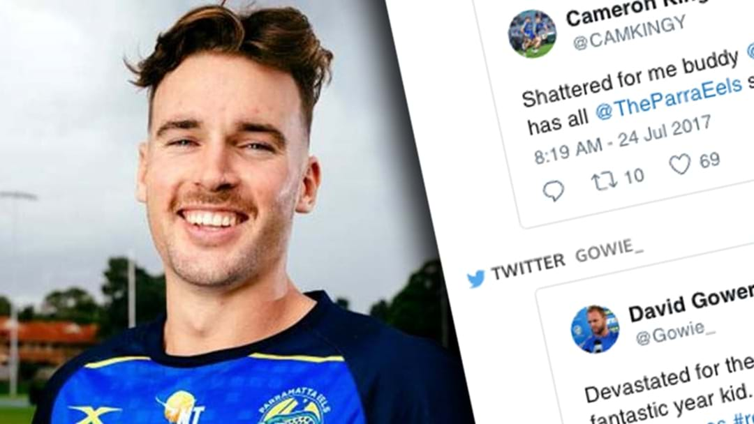 Parramatta Teammates Get Behind Clint Gutherson In His Hour Of Need