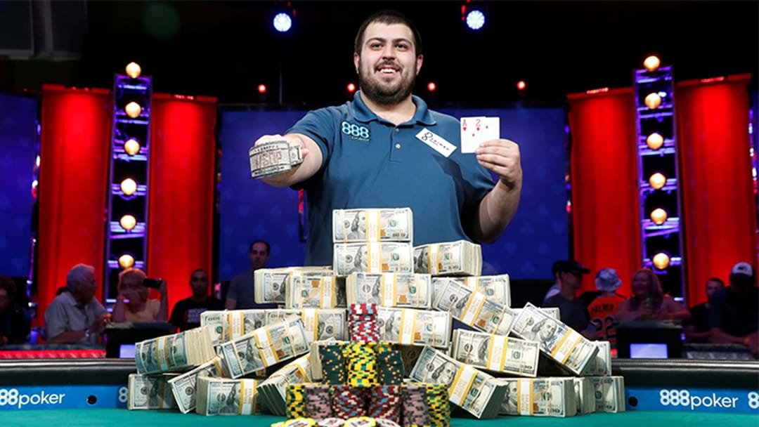 A Bloke Just Won The World Series Of Poker In His First Ever Tournament