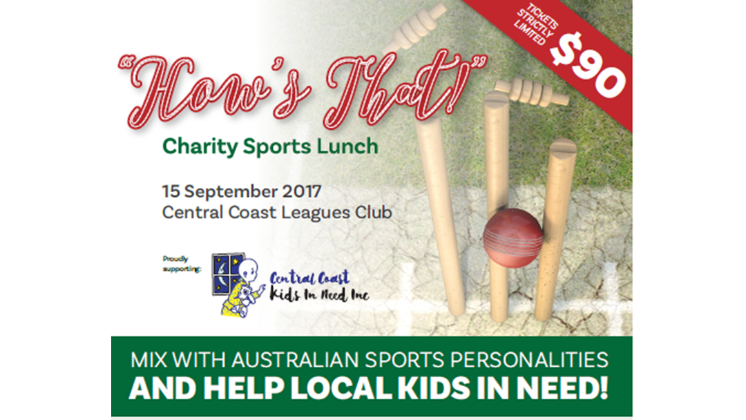 'HOWS THAT' Charity Sports Lunch