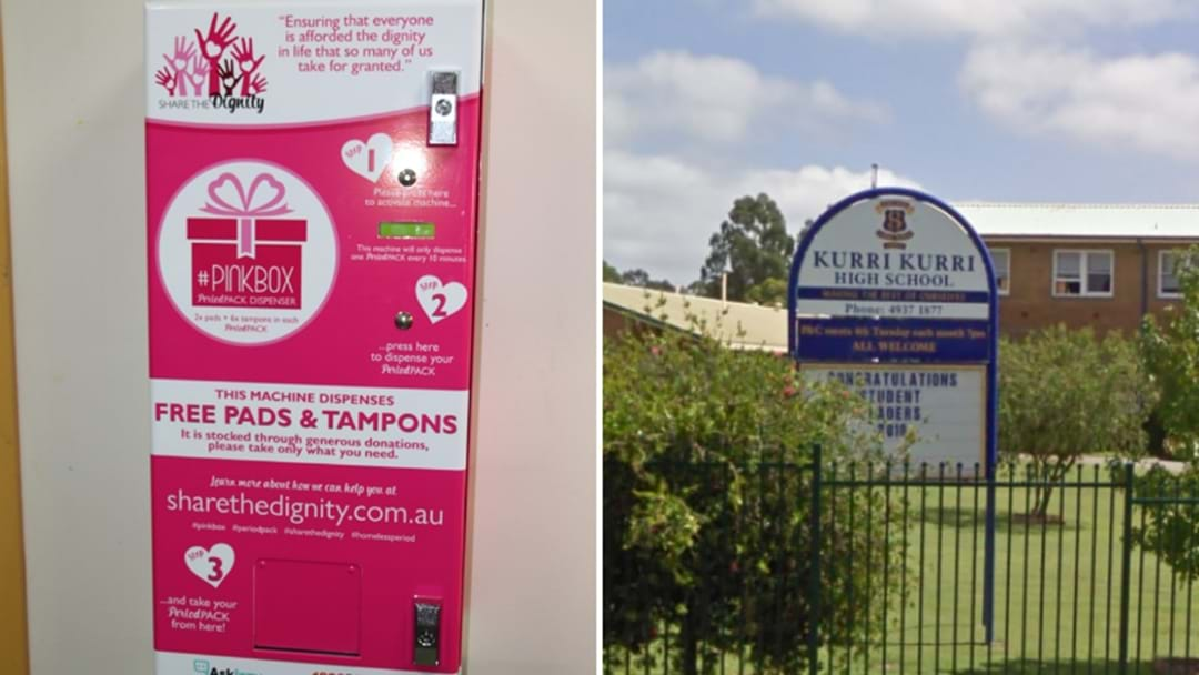 Kurri Kurri High Gets Free Tampon Vending Machine