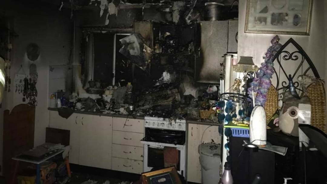 Elderly Woman Rescued From Burning Unit