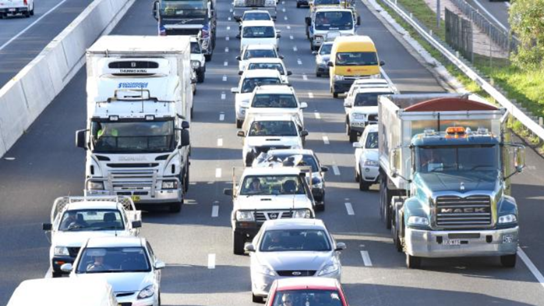 The M1 Gridlocked After Truck Loses Load Of Empty Beer Bottles