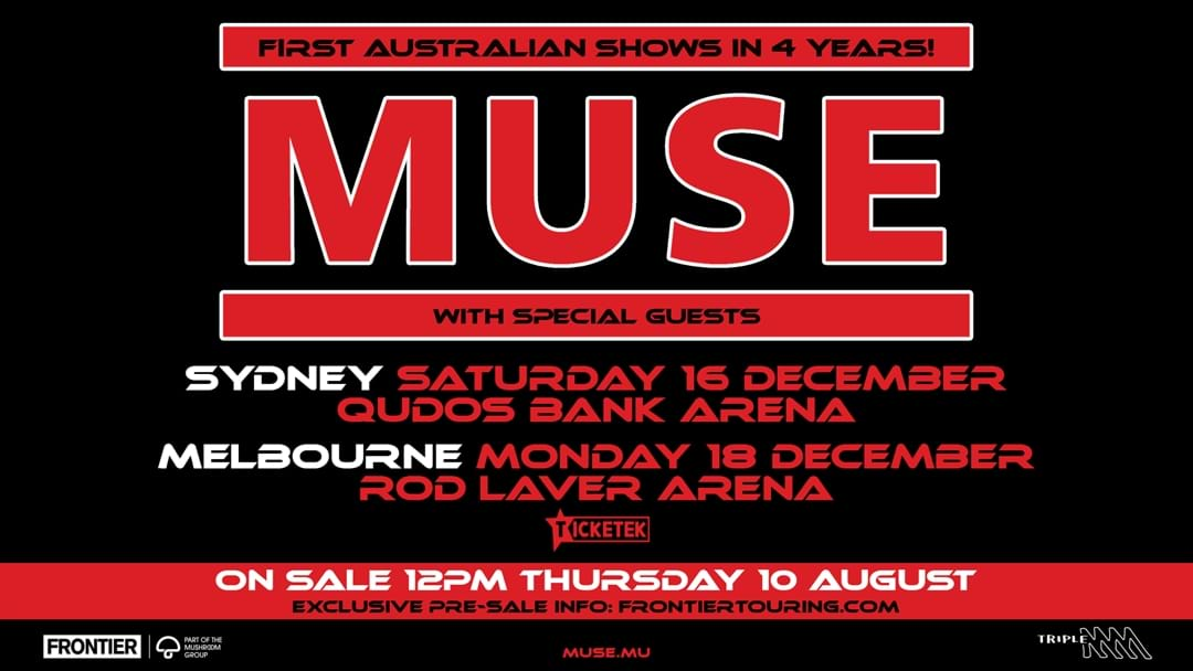 Muse SELL OUT Melbourne, New Tickets Released