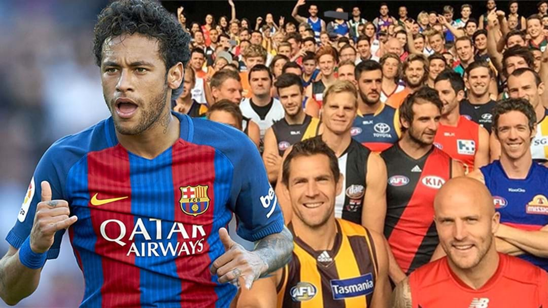 The INSANE Amount Of Money Neymar Earns Compared To The ENTIRE AFL