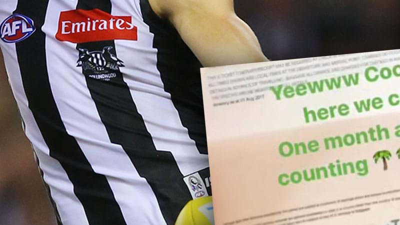 Article heading image for  Collingwood Player Books Holiday For September