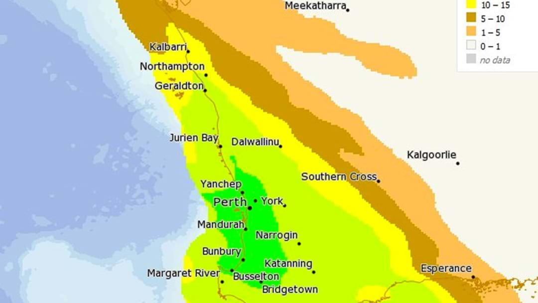 WA To Cop Some Serious Rainfall Tomorrow