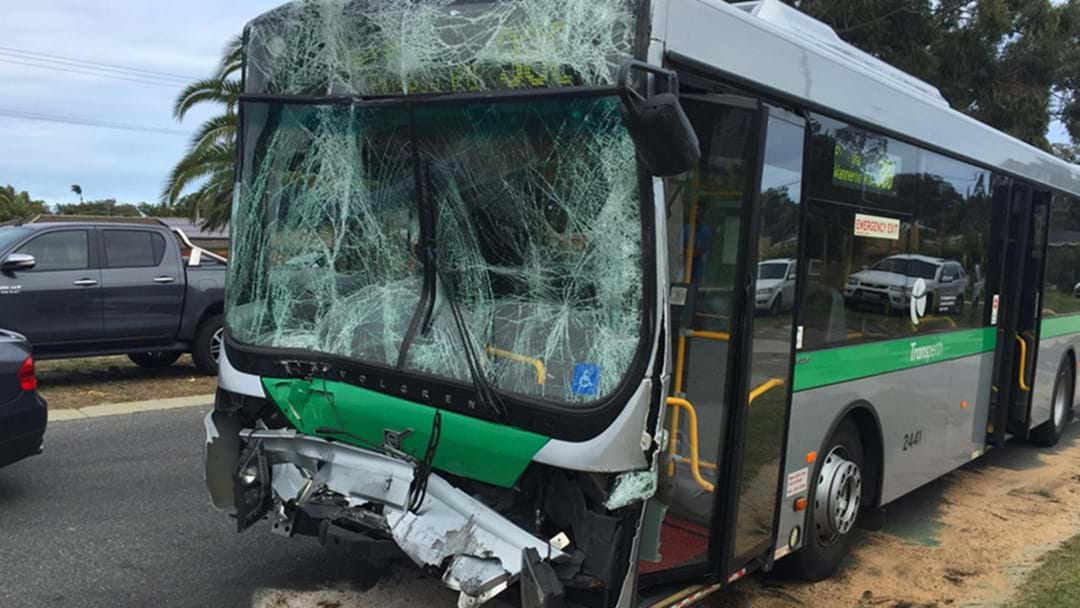 Double Bus Crash In Warwick Traps Driver