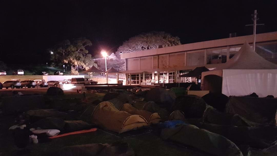 Albany Town Square becomes Tent City