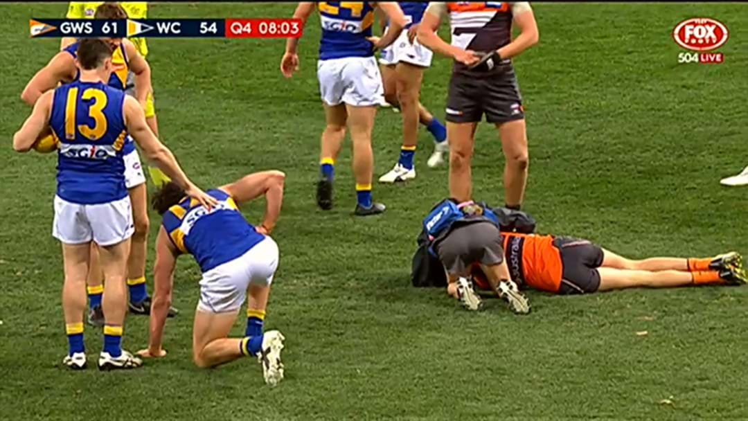 Josh Kelly Involved In Massive Collision With Josh Kennedy