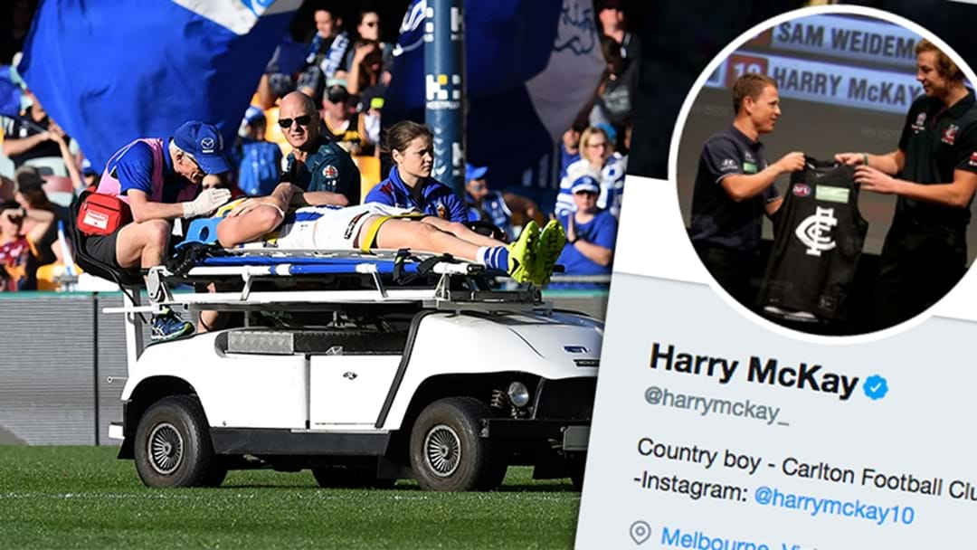 Harry McKay Absolutely Savages His Brother After Being Stretchered Off On Debut