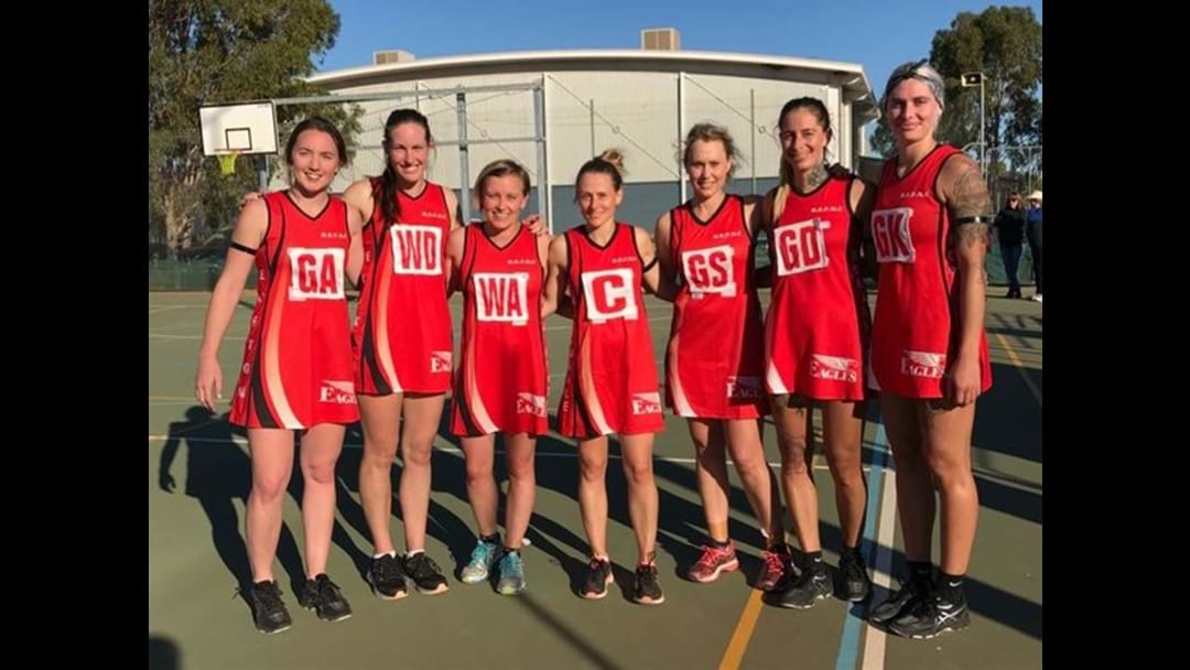 Robinvale-Euston score at the 2017 Australia Post One Netball Community Awards