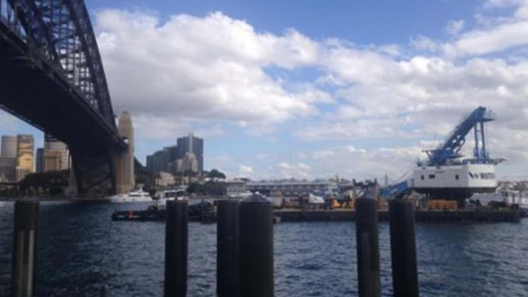 Crane Collapses Into Sydney Harbour