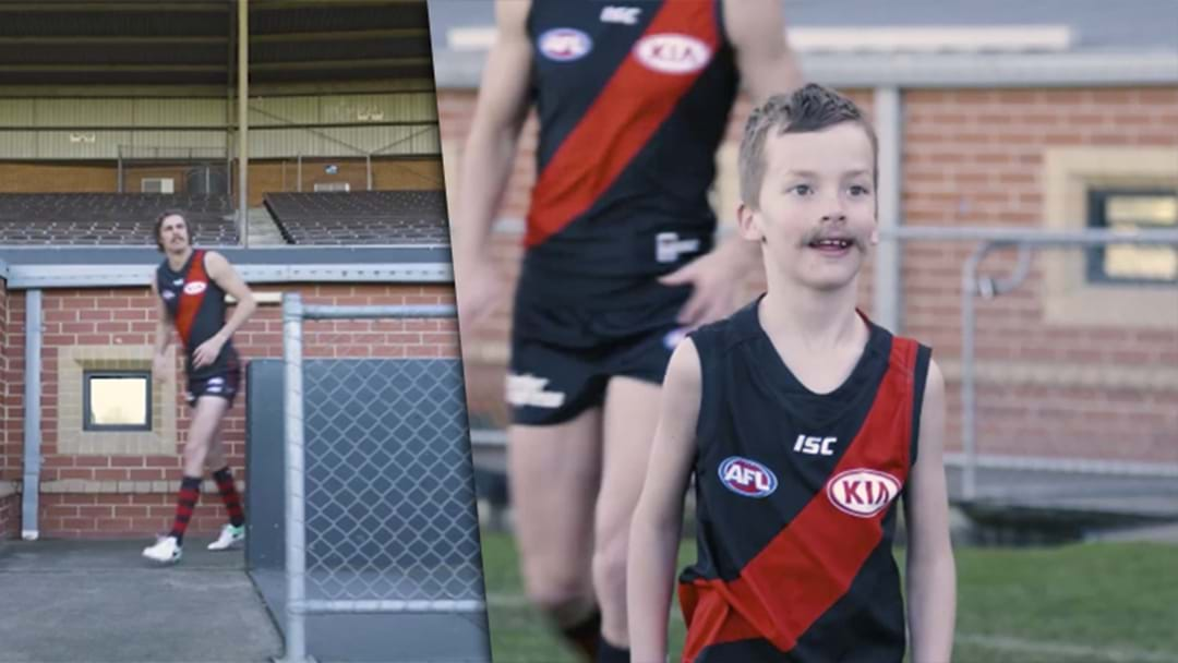 Joe Daniher Surprises His Mini-Legend On Set Of NAB Ad