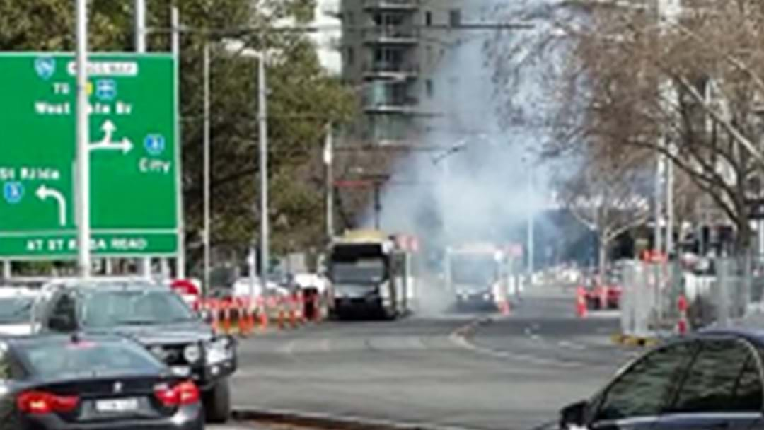 Reports Of A Tram Explosion In Melbourne