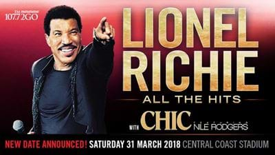 See Lionel Richie On The Central Coast!