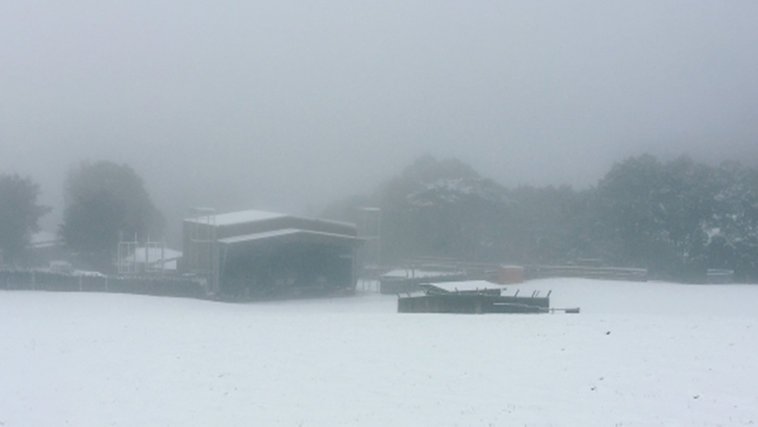 It's Snowing In Lorne Right Now