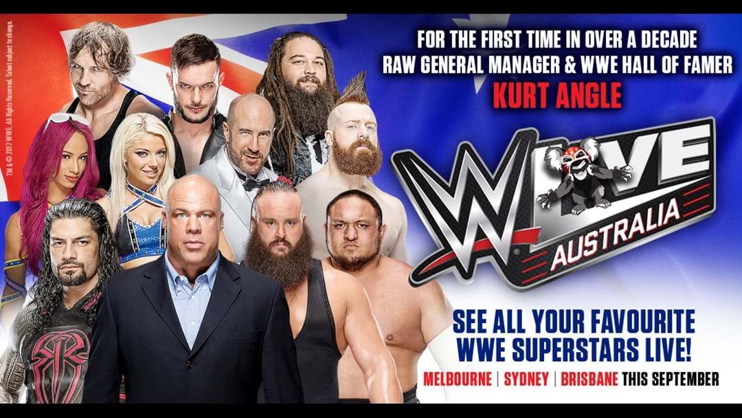 Kurt Angle Announces He'll Be At WWE Australia Next Week