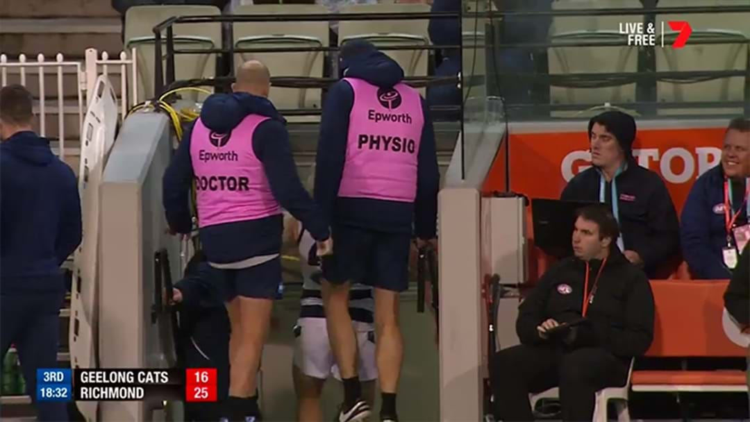 Bad News For Geelong With Cam Guthrie Done For The Night