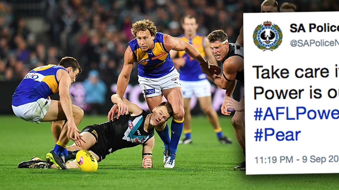 The South Australian Police Had A Cheeky Dig At Port Adelaide Last Night