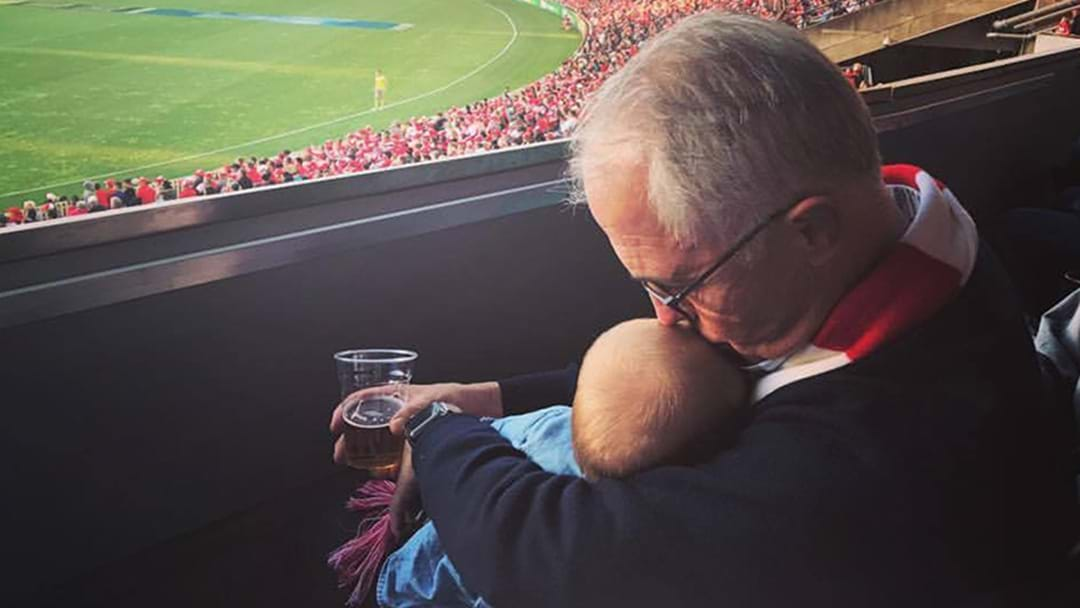 Malcolm Turnbull Speaks Out Over Controversial Footy Photo