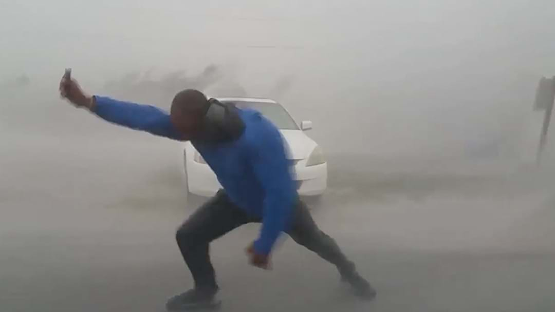 Storm Chaser Nearly Gets Blown Away Trying To Measure Hurricane Irma
