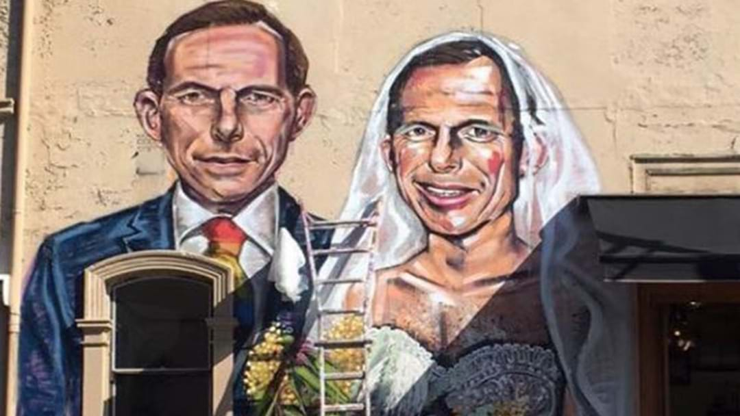 Tony Abbott Mural Appears Ahead Of Postal Vote Delivery