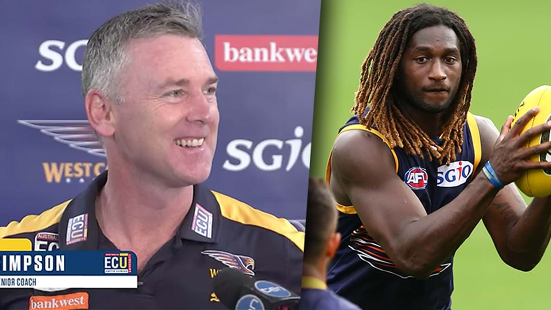 Adam Simpson Is Being Coy About Nic Naitanui's Return