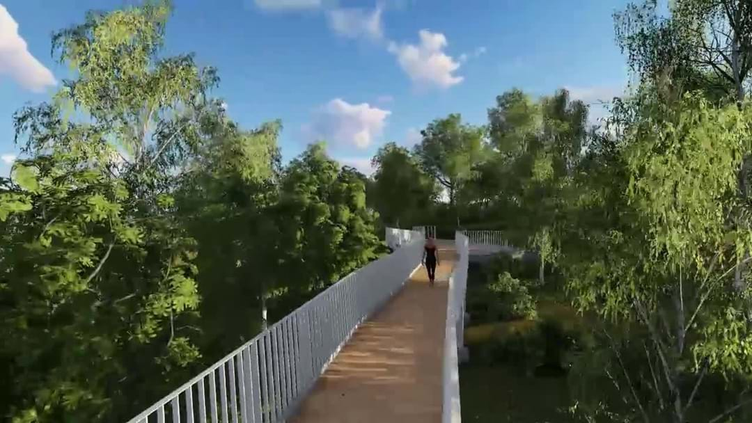 Sod turning for Fraser Park sky walk