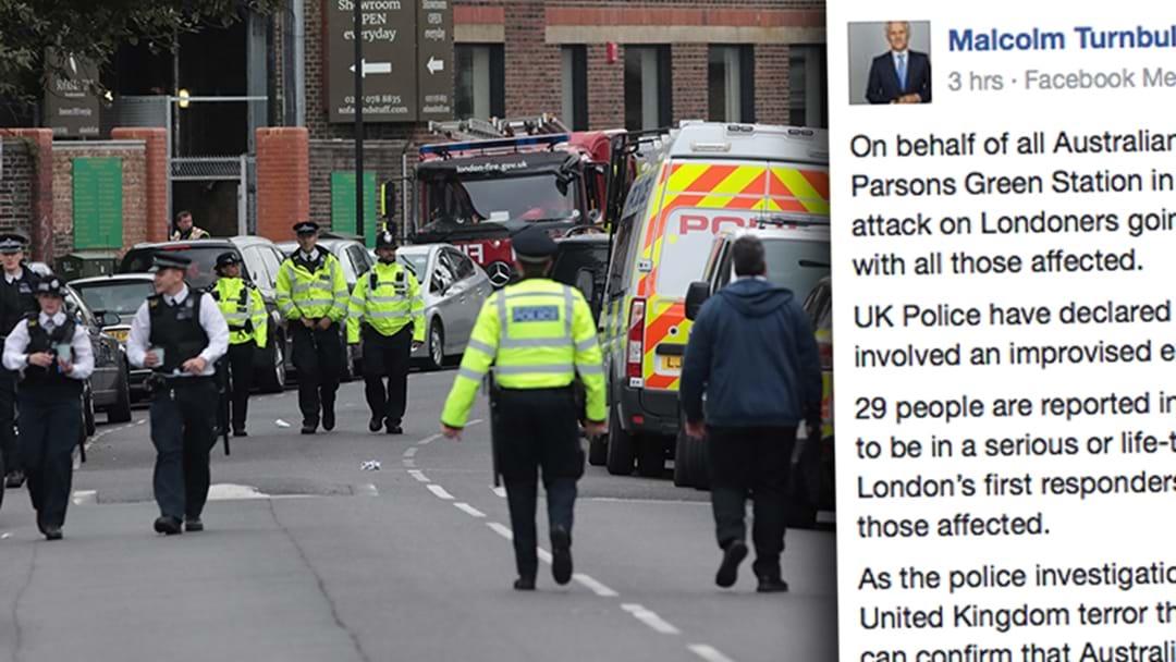 Malcolm Turnbull Condemns London Terror Attack