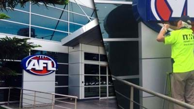 The Logo Outside AFL House Has Been Changed
