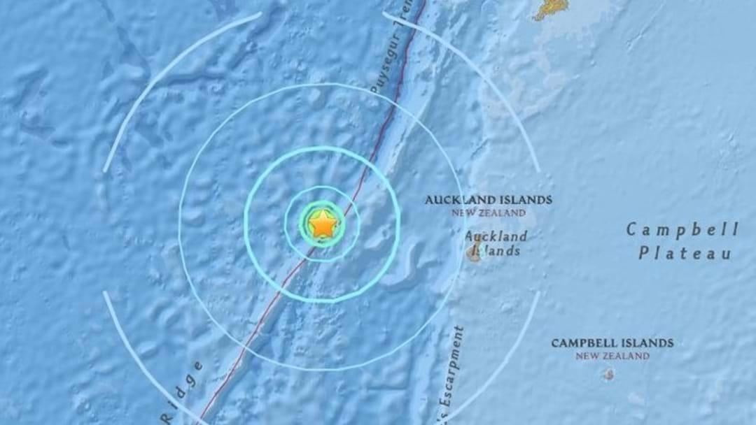 Magnitude 5.8 Earthquake Strikes Near New Zealand