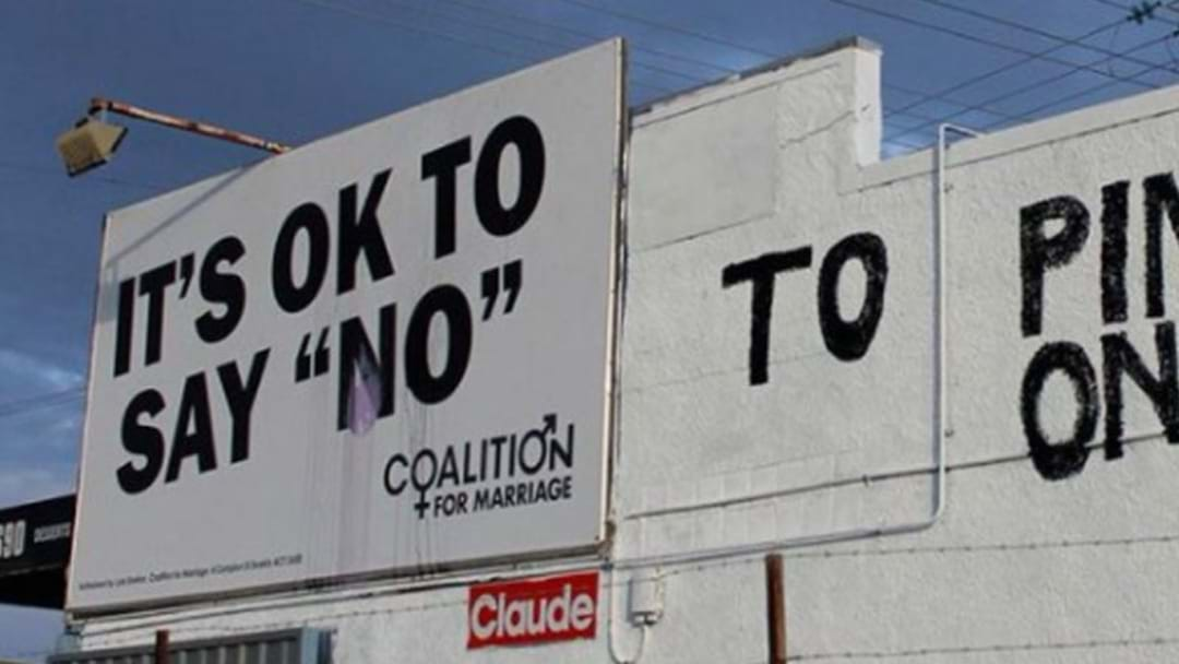 Pizza Shop Sabotages 'Vote No' Billboard